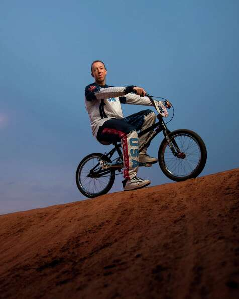 Kyle Bennett, Bicycle Motocross (BMX) racer and member of the first ever BMX Olympic Team at a BMX t