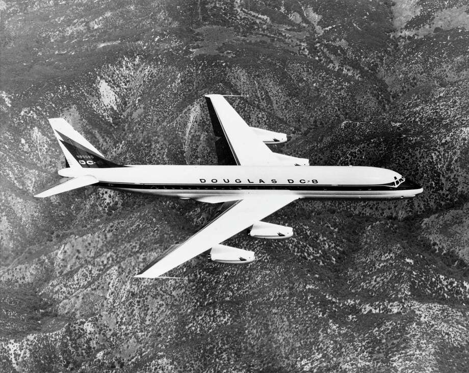 In 1961 pilots took a Douglas DC-8 supersonic in a series of dives to collect data for wing design. Photo: ASSOCIATED PRESS / AP1958