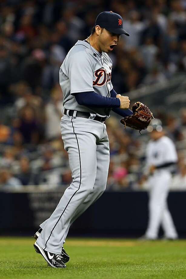 Detroit's Anibal Sanchez pretty much had his way with the slumping Yankees, scattering three hits over seven innings as the Tigers took a 2-0 series lead. Photo: Alex Trautwig, Getty Images