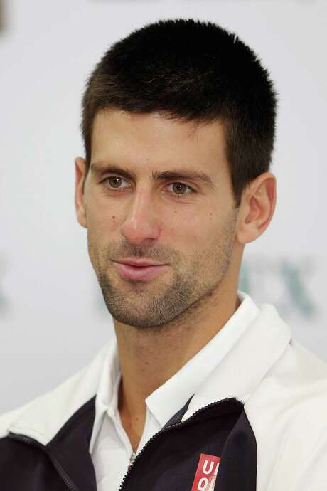 SHANGHAI, CHINA - OCTOBER 14:  Novak Djokovic of Serbia attends a press conference after defeating Andy Murray of Great Britain during the final of the Shanghai Rolex Masters at the Qi Zhong Tennis Center on October 14, 2012 in Shanghai, China.  (Photo by Lintao Zhang/Getty Images) Photo: Lintao Zhang / 2012 Getty Images