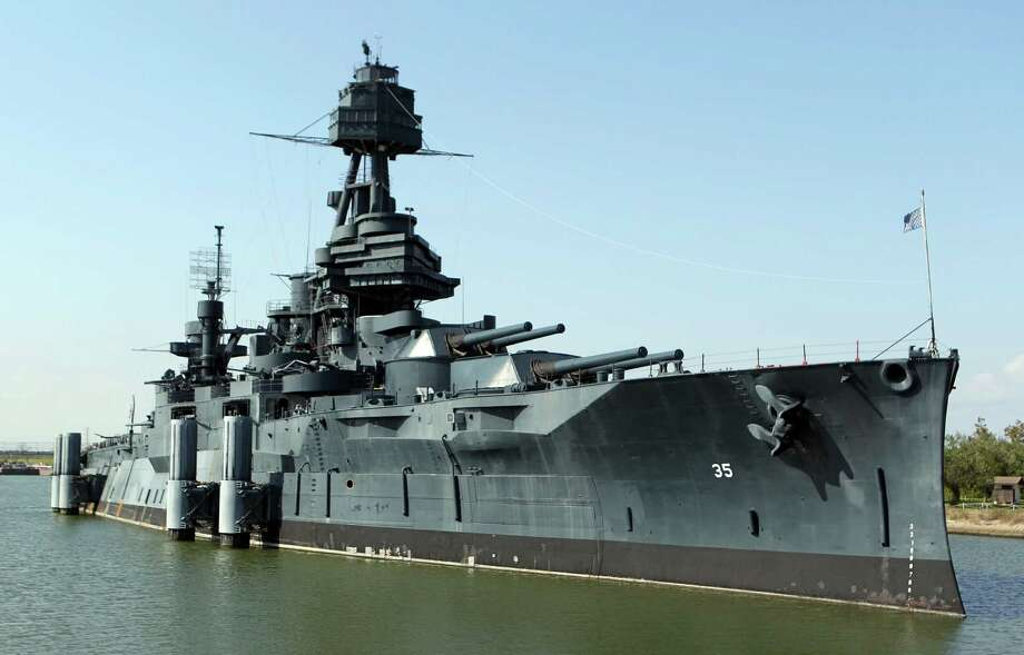The Battleship Texas which will now be offering Hard Hat Tours of the ship Friday, Oct. 5, 2012, in La Porte.  ( James Nielsen / Chronicle ) Photo: James Nielsen, Houston Chronicle / © Houston Chronicle 2012