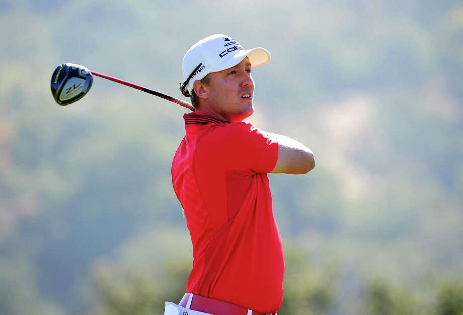 SAN MARTIN, CA - OCTOBER 14:  Jonas Blixt of Sweden makes a tee shot on the second hole during the final round of the Frys.com Open at the CordeValle Golf Club on October 14, 2012 in San Martin, California.  (Photo by Robert Laberge/Getty Images) Photo: Robert Laberge