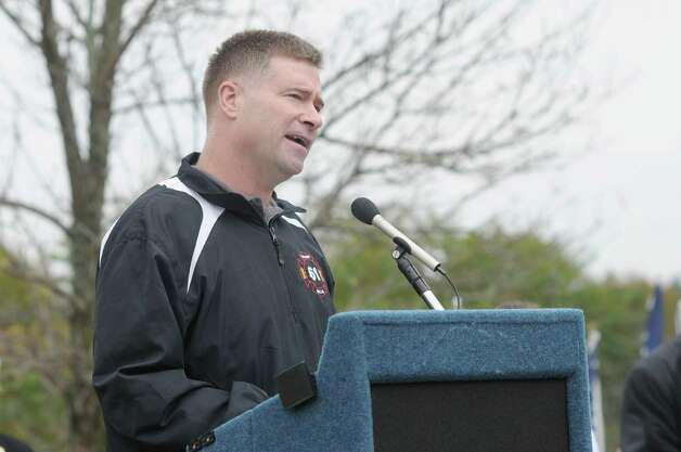 Congressman Chris Gibson addresses those gathered during a ceremony to celebrate the naming of the Route 20 Bridge in the Town of Nassau on Sunday, Oct. 14, 2012.  The bridge was named the Staff Sergeant Derek Farley Memorial Bridge.  Derek Farley was an Army explosives ordnance disposal technician who was deployed in 2009 as team leader to Afghanistan with the 702nd EOD Company.  Farley died in Afghanistan on August 17, 2010.   (Paul Buckowski / Times Union) Photo: Paul Buckowski