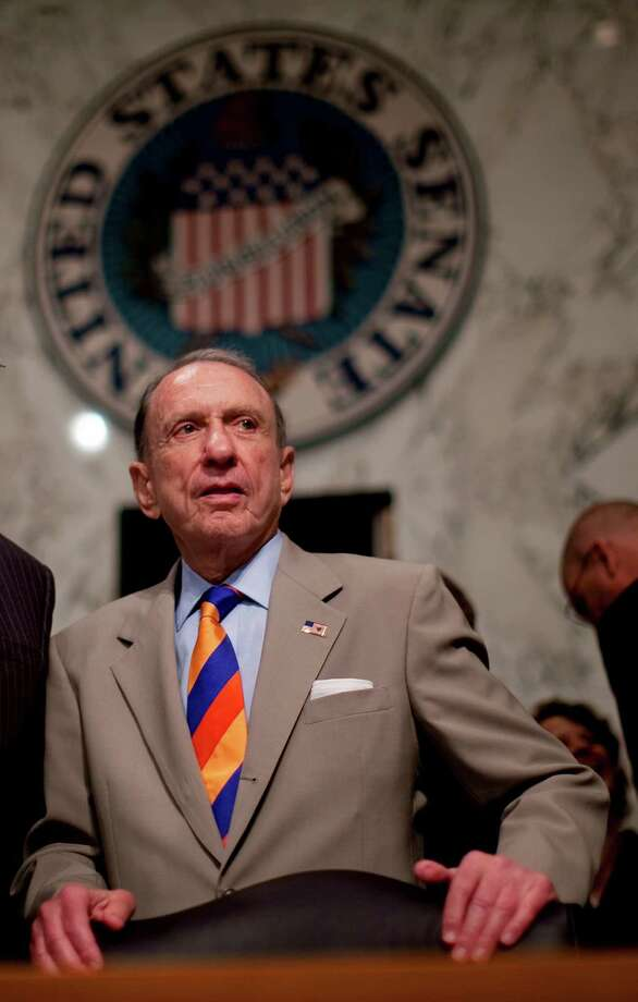 FILE -- Sen. Arlen Specter (D-Pa.) during a confirmation hearing for Supreme Court nominee Elena Kagan in the Senate Judiciary Committee on Capitol Hill in Washington, June 29, 2010. Specter, who was at the center of many of the Senate?s most divisive legal battles, only to lose his seat in 2010 after quitting the Republican Party to become a Democrat, died on Oct. 14, 2012 at 82. (Doug Mills/The New York Times) Photo: DOUG MILLS / NYTNS