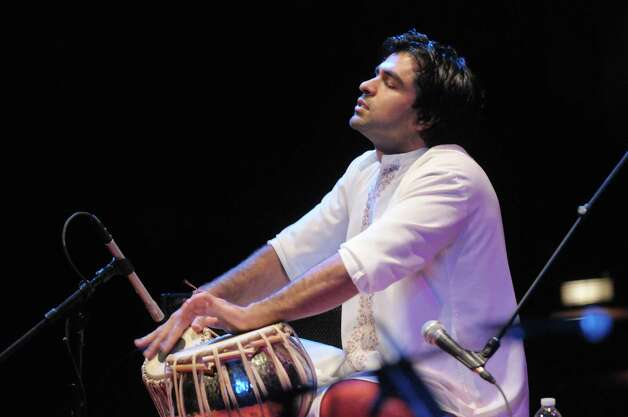 Musician Devesh Chandra perfroms during the Drums Along the MoHu at The Egg on Sunday, Oct. 14, 2012 in Albany, NY.  The free show was part of the MoHu Arts Festival.   (Paul Buckowski / Times Union) Photo: Paul Buckowski
