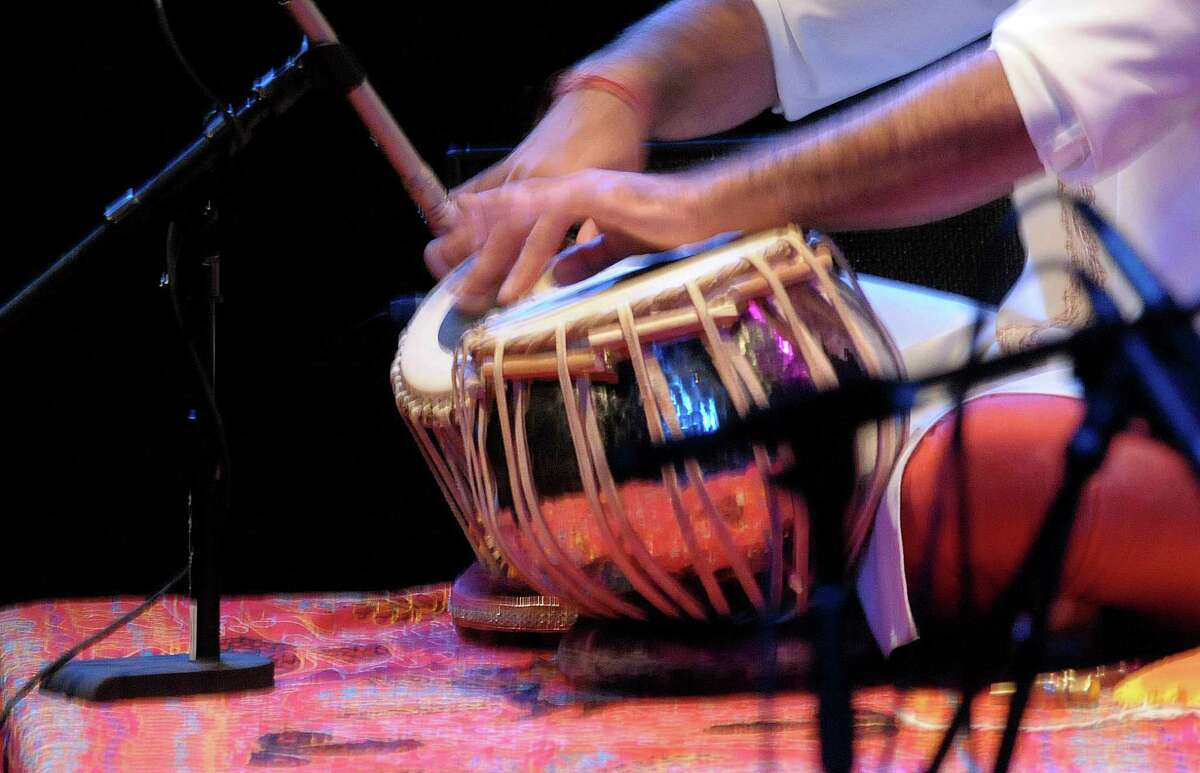 Musician Devesh Chandra perfroms during the Drums Along the MoHu at The Egg on Sunday, Oct. 14, 2012 in Albany, NY. The free show was part of the MoHu Arts Festival. (Paul Buckowski / Times Union)