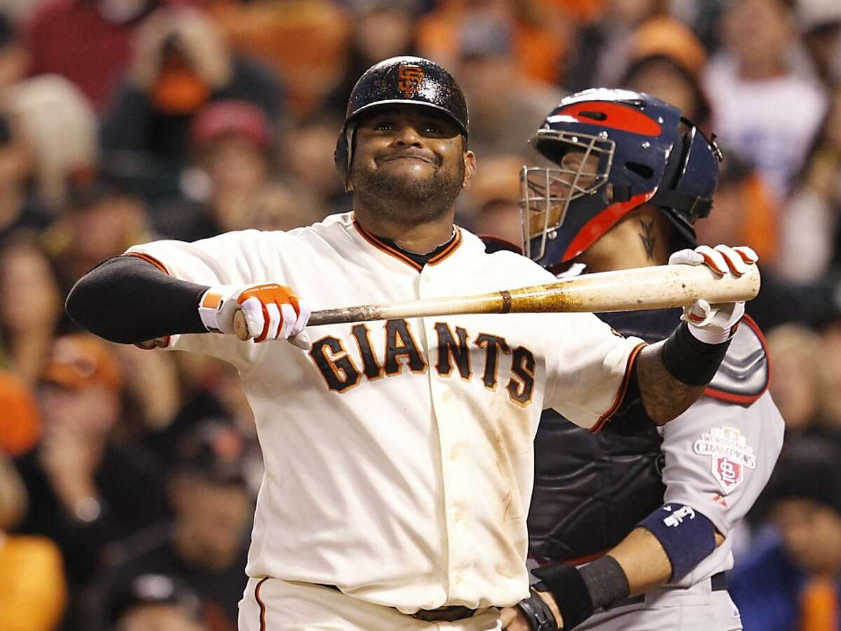 Giants?• third baseman Pablo Sandoval strikes out in the fourth inning during game 1 of the NLCS at AT&T Park on Sunday, Oct. 14, 2012 in San Francisco, Calif.