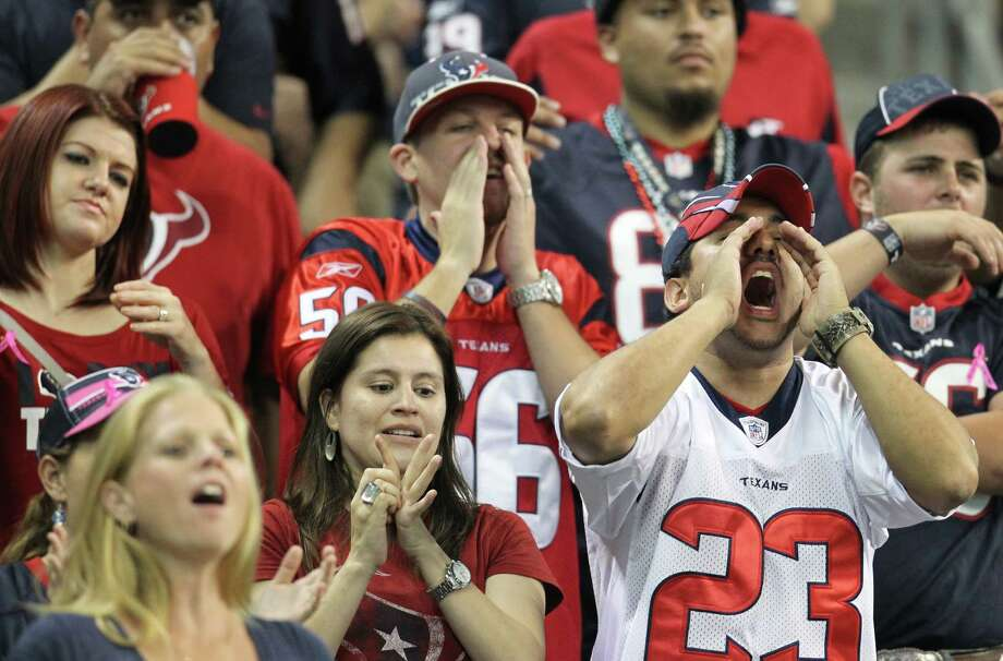 """The many Packers fans who attended Sunday night's game at Reliant Stadium, including this jubilant """"Cheesehead,"""" were rewarded by seeing Green Bay dominate the Texans in convincing fashion en route to a 42-24 victory. Photo: Karen Warren / © 2012  Houston Chronicle"""