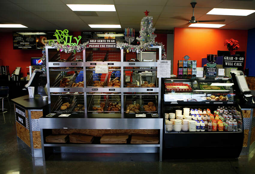Bagel Factory , 15909 San Pedro Ave., Suite 115, 210-499-0100, serves its breakfast menu all day and offers lunch as well. It is open 6 a.m.-2 p.m. Monday-Saturday and 7 a.m.-2 p.m. Sunday. It's online at bagel-factory.com.