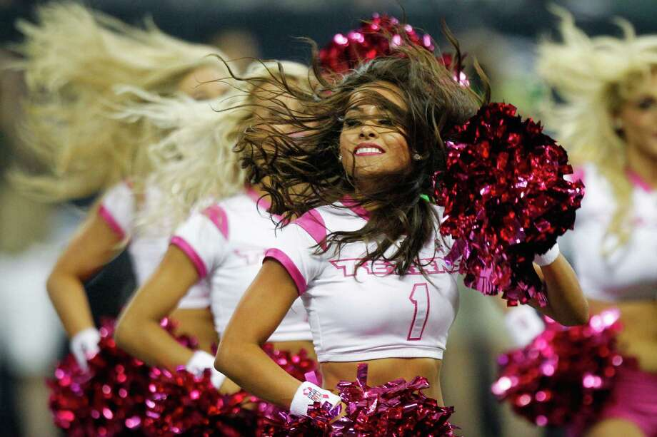 Texans cheerleaders perform during the second quarter against the Green Bay Packers. Photo: Brett Coomer, Houston Chronicle / © 2012  Houston Chronicle