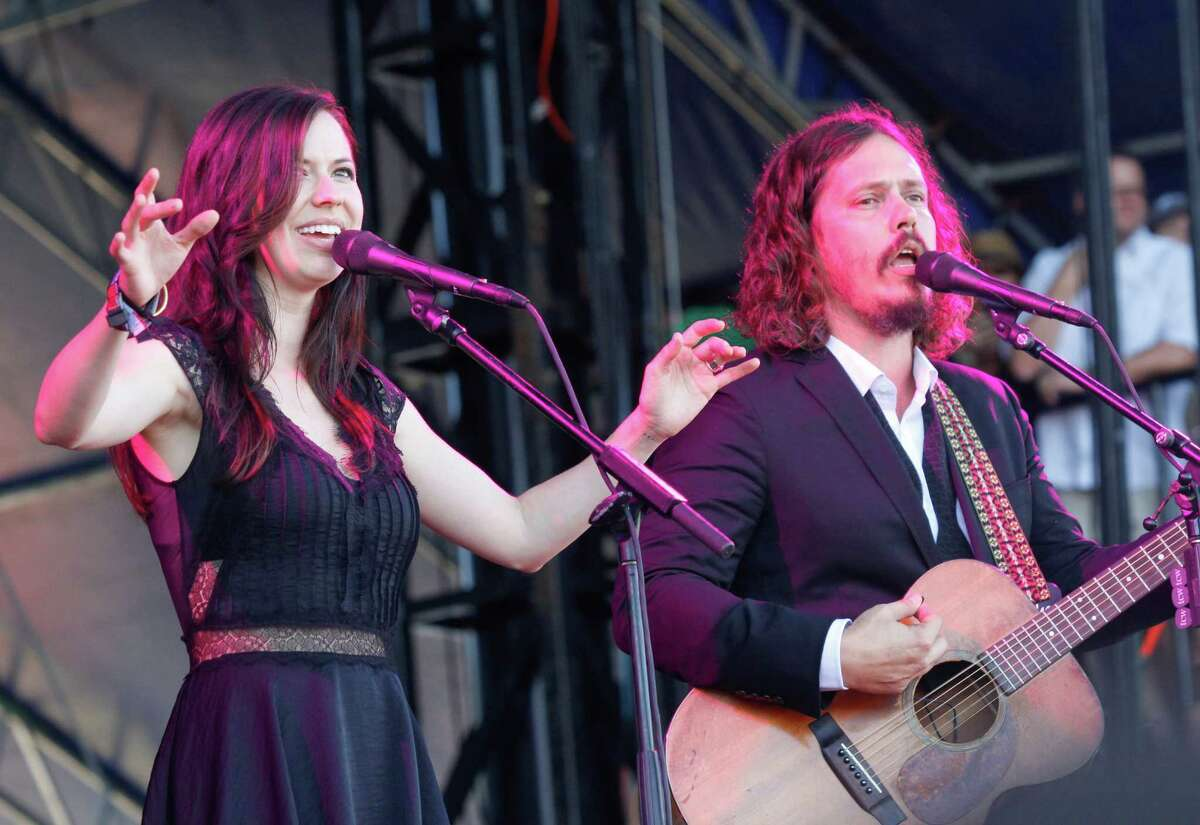 John Paul White and Joy Williams of The Civil Wars perform at the Austin City Limits Music Festival, Sunday, Oct. 14, 2012, in Austin, Texas. (Photo by Jack Plunkett/Invision/AP)