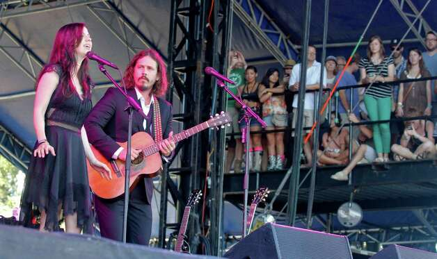 John Paul White and Joy Williams of The Civil Wars perform at the Austin City Limits Music Festival, Sunday, Oct. 14, 2012, in Austin, Texas. (Photo by Jack Plunkett/Invision/AP) Photo: Jack Plunkett, Associated Press / Invision