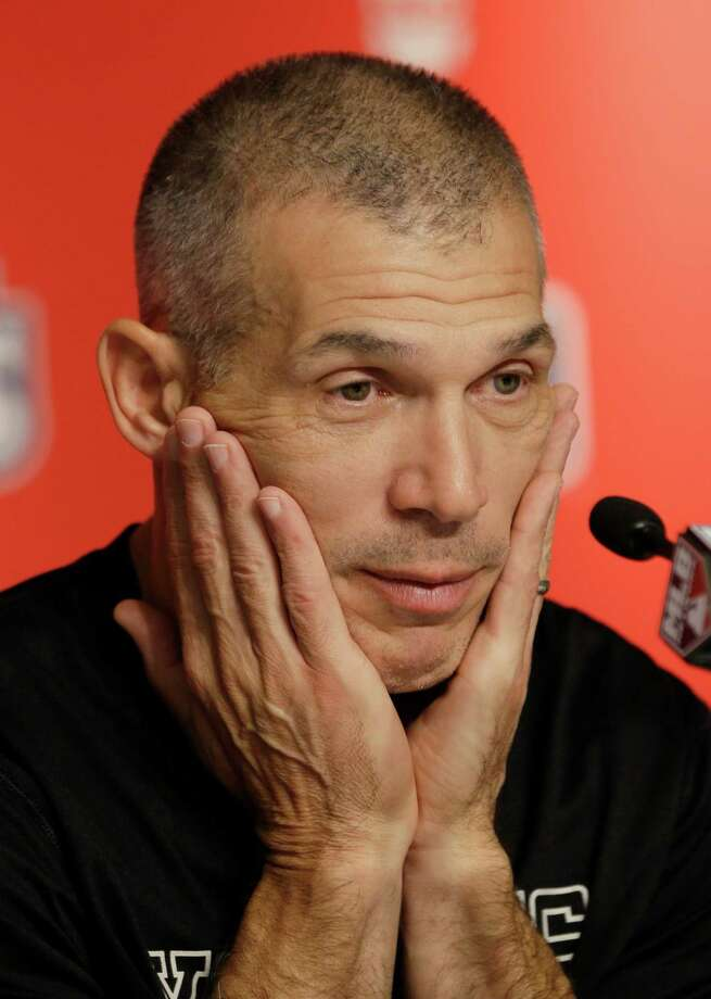 New York Yankees' manager Joe Girardi listens to a question during a press conference before Game 2 of the American League championship series between the Yankees and the Detroit Tigers on Sunday, Oct. 14, 2012, in New York. Photo: Kathy Willens, AP / AP