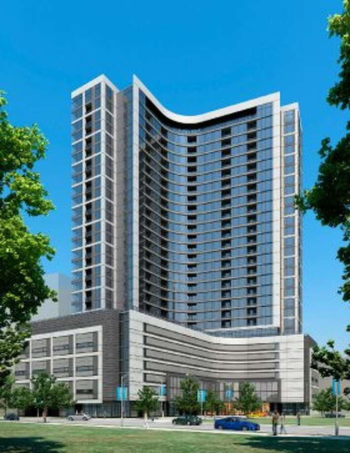 Hanover Post Oak will be a 29-story luxury apartment tower in BLVD Place. (Hanover Co.)