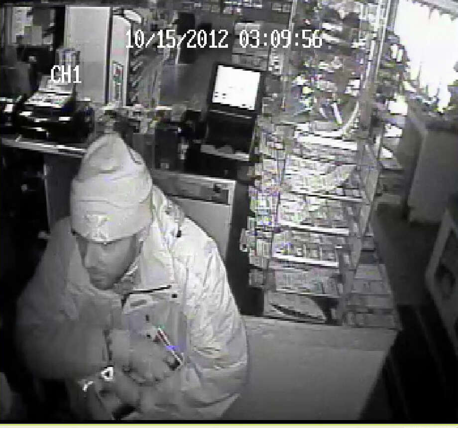 Police are attempting to identify this man, who they say stole cigarette cartons from the Buck Stop Citgo Gas Station in Shelton, Conn. on Oct. 15, 2012. Photo: Contributed Photo