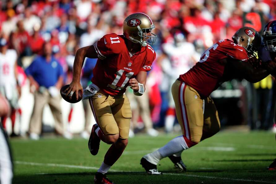 Quarterback Alex Smith (11) during the second half. The San Francisco 49ers play the New York Giants