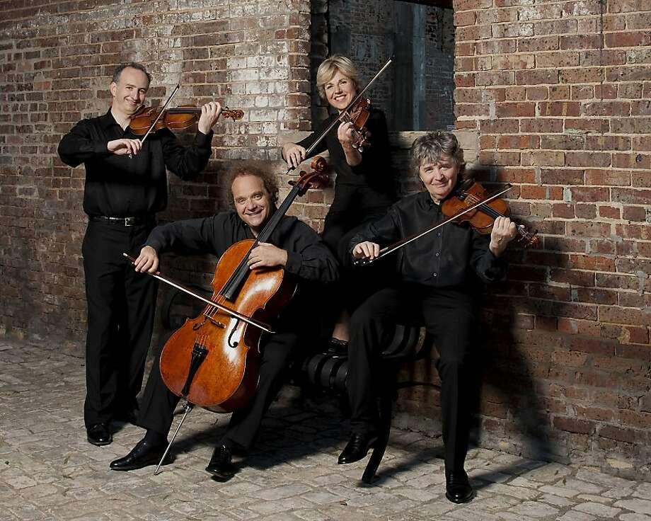 The Takács Quartet: Edward Dusinberre (left), András Fejér, Geraldine Walther, Károly Schranz. Photo: Ellen Appel