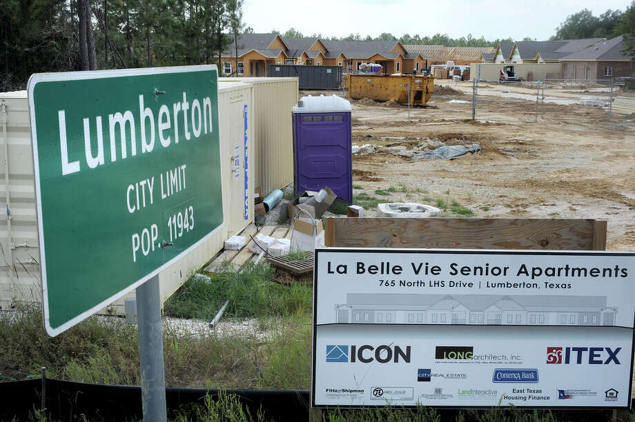 The La Belle Vie Senior Apartments is among the many new businesses and homes being constructed to meet the demands of population growth in Lumberton. Photo taken Tuesday, October 2, 2012 Guiseppe Barranco/The Enterprise Photo: Guiseppe Barranco, STAFF PHOTOGRAPHER / The Beaumont Enterprise
