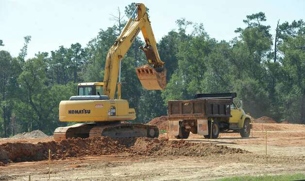 Out on highway 421, the Lumberton Municipal Utilities District is building a new facility. Lumberton is growing, with a new emergency facility, new subdivisions, new businesses, new utility district buildings,    Dave Ryan/The Enterprise Photo: Dave Ryan