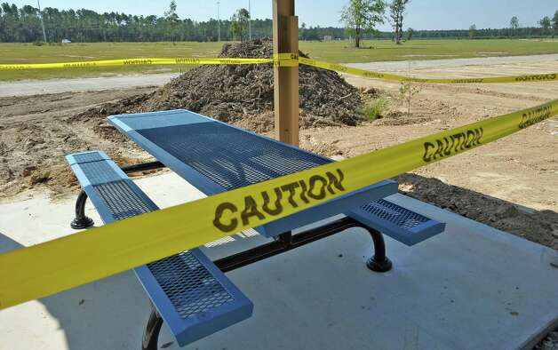 Out on highway 421, the City of Lumberton is building a new park.  Covered picnic tables are all ready in place around the perimeter and a road that goes all the way around. Lumberton is growing, with a new emergency facility, new subdivisions, new businesses, new utility district buildings,    Dave Ryan/The Enterprise Photo: Dave Ryan