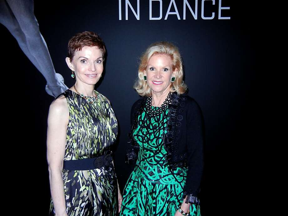 """Nureyev"" show sponsor Denise Littlefield Sobel (left) and Fine Arts Museums board President Dede Wilsey. Photo: Catherine Bigelow, Special To The Chronicle"
