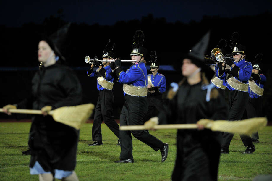 Brookfield High School marching band and color guard members perform at the annual Quest for the Best marching band and color guard competition at Bethel High School on Saturday, Oct. 13, 2012. Photo: Jason Rearick / The News-Times