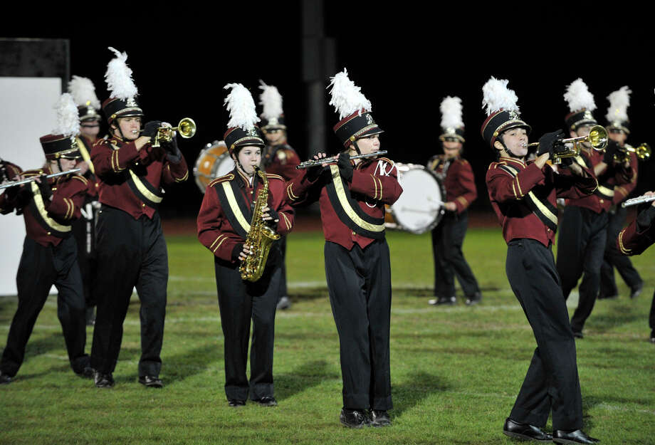 Bethel High School marching band and color guard members perform at the annual Quest for the Best marching band and color guard competition at Bethel High School on Saturday, Oct. 13, 2012. Photo: Jason Rearick / The News-Times