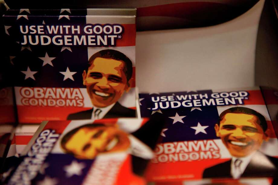 During the last election, Obama condoms were sold at the Inauguration Superstore. Photo: Nancy Stone, MCT / Chicago Tribune