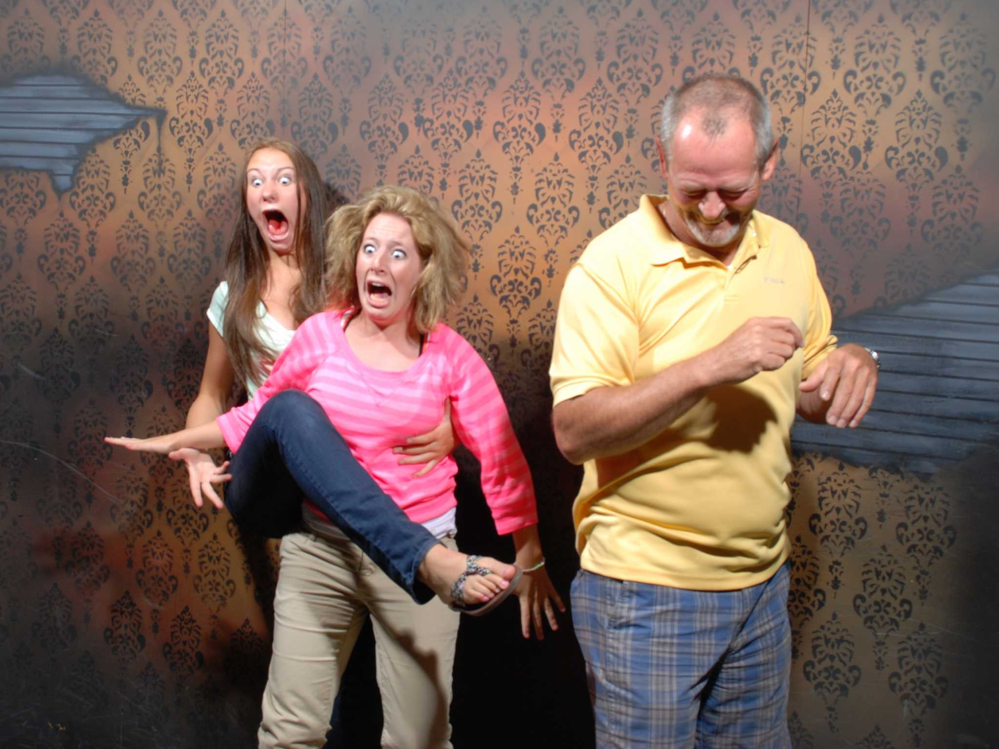 Scared At Haunted House