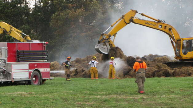 Site of a barn fire on 36 Hemstreet Road, Schaghticoke, on Monday, Oct. 15, 2012. (Bob Gardinier/Times Union)
