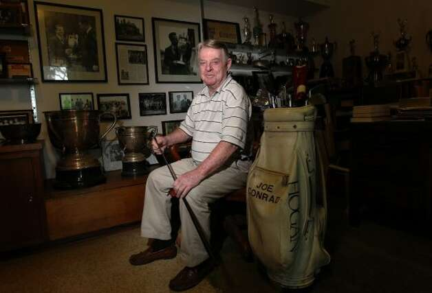 Joe Conrad, 82, won the British Amateur Championship in 1955 at Royal Lytham and St. Anne's. This year's British Open will played at the same course this week. Conrad honed his golfing skills at Brackenridge, Riverside and Willowsprings as a junior player. After playing for the American Walker Cup Team in 1955 where he lost his singles match despite America's overall win, Conrad was determined to play better at the British Amateur. Competing against 248 other players in match play, then 25-year-old Conrad surprised the field and eventually won. On the walls of his home, Conrad keeps photos of his victory at the British Amateur along with various other trophies from his many wins on the golf course. Conrad now helps to supply junior golfers with clubs to play the game he so loves. (San Antonio Express-News)