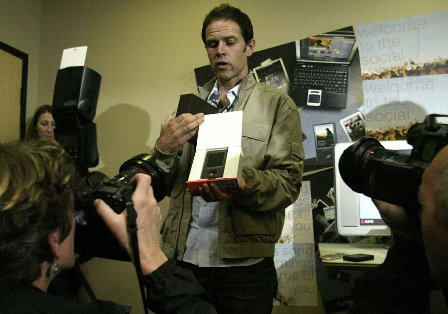 Zune started as a music device, which Chris Stephenson, Zune global marketing manager, unveiled to the media on Sept. 14,  2006, in Redmond. Photo: Joshua Trujillo, Seattle Post-Intelligencer / Seattle Post-Intelligencer