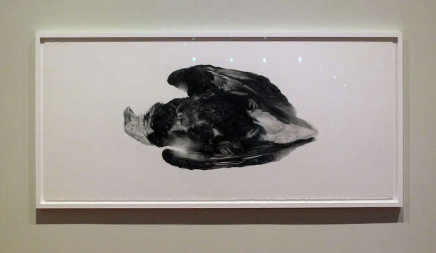 """Requiem,"" a graphite on paper work by Vincent Valdez, is included in his solo exhibit at the McNay Art Museum. Photo: Kin Man Hui, San Antonio Express-News / MCNAY VALDEZ"