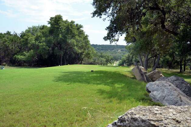 The No. 15 tee box at Canyon Lake Golf Club.