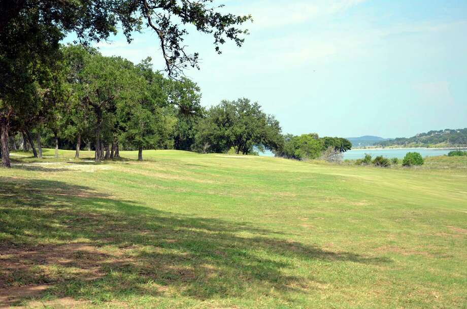 The course is nestled along the shores of Canyon Lake, and one of its signature views can be taken in coming down the 17th fairway.