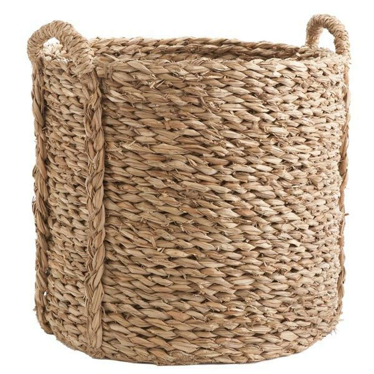 less: $69 Large Woven Seagrass Basket from Wisteria (wisteria.com)