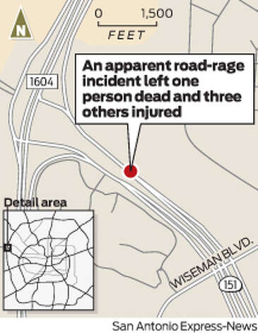 A road rage altercation between two drivers left one dead and three others injured Photo: Harry Thomas