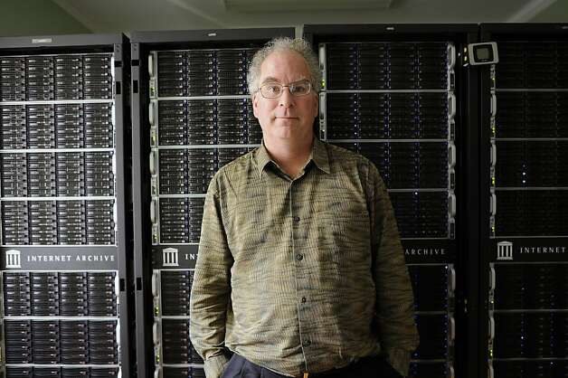 Brewster Kahle, San Francisco tech entrepreneur and computer scientist is photographed in one of the server rooms at the Internet Archive building in a former Christian Science Church in the Richmond District of San Francisco, CA Tuesday September 25th, 2012. Photo: Michael Short, Special To The Chronicle