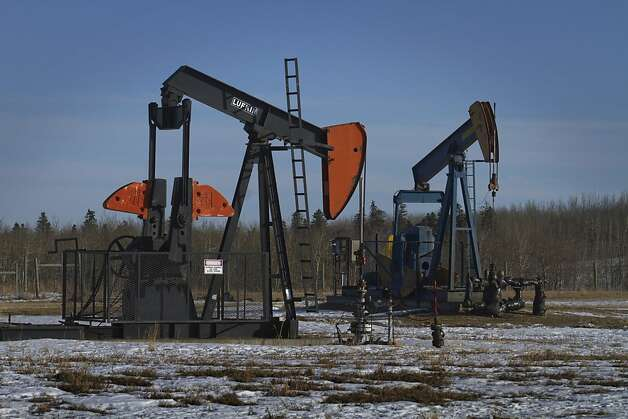 The Pembina oil field in Alberta is one of the largest in Canada. In July, the United States imported 2.5 million barrels of crude a day from Canada. Photo: Norm Betts, Bloomberg
