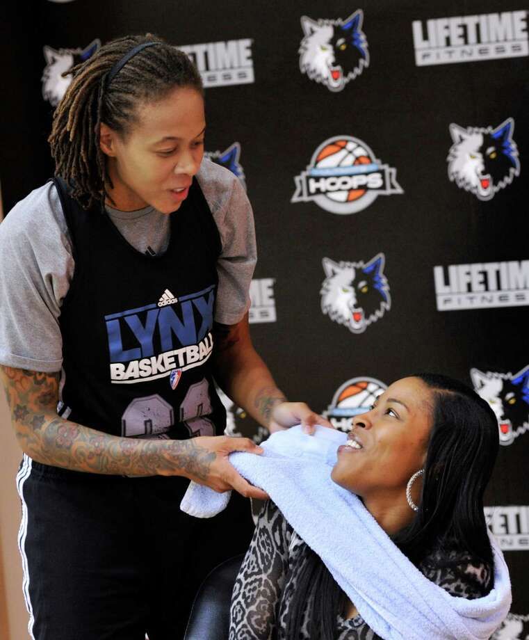 Seimone Augustus: Currently plays for the Minnesota Lynx of the WNBA. Engaged to LaTaya Varner. Photo: Jim Mone