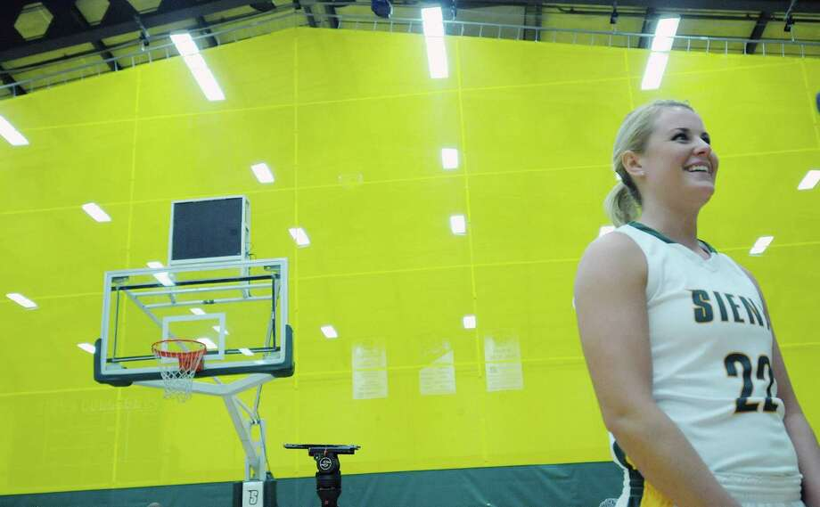 Siena'sLily Grenci talks about the upcoming season during Siena women's basketball media day at the  Alumni Recreation Center on the Siena Campus on Monday, Oct. 15, 2012 in Loudonville, NY.    (Paul Buckowski / Times Union) Photo: Paul Buckowski