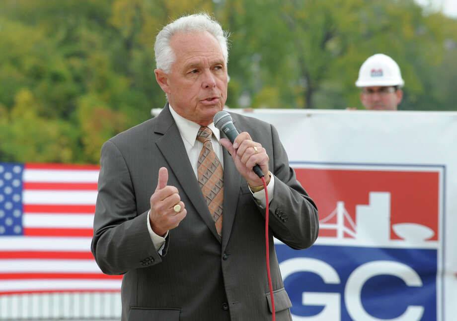 New York State Assemblyman Clifford Crouch speaks to hyrdofracking supporters during a rally at the Corning Preserve on Monday, Oct. 15, 2012 in Albany, N.Y. The large group of hydrofracking supporters later marched up State St. to the Capitol and had another rally on the steps of West Capitol Park. (Lori Van Buren / Times Union) Photo: Lori Van Buren