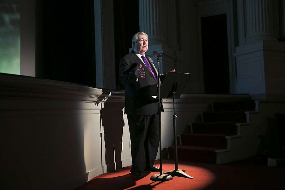 "Hearst Corporation CEO Frank A. Bennack Jr. speaks to the crowd before a screening of the film ""Citizen Hearst"" at the Legion of Honor in San Francisco, Calf., on Monday, October 15, 2012.  The documentary tells the 125-year-long story of the media company. Photo: Laura Morton, Special To The Chronicle"