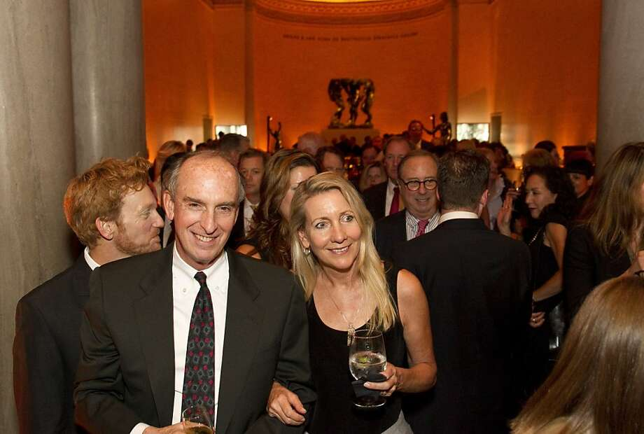 "Guests of a party to celebrate the documentary film ""Citizen Hearst"" make their way down to the theater at the Legion of Honor in San Francisco, Calf., on Monday, October 15, 2012.  The documentary tells the story of the125-year-long of the media company. Photo: Laura Morton, Special To The Chronicle"