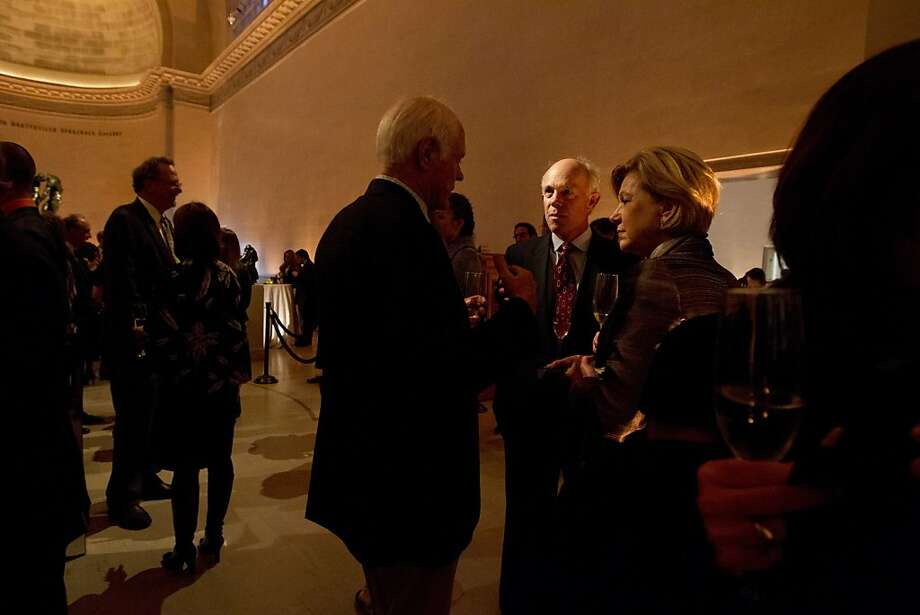 Guests mingle at the Legion of Honor in San Francisco before a screening of Citizen Hearst, a new documentary about William Randolph Hearst, Monday night, October 15, 20012. Photo: Erin Lubin, Special To The Chronicle