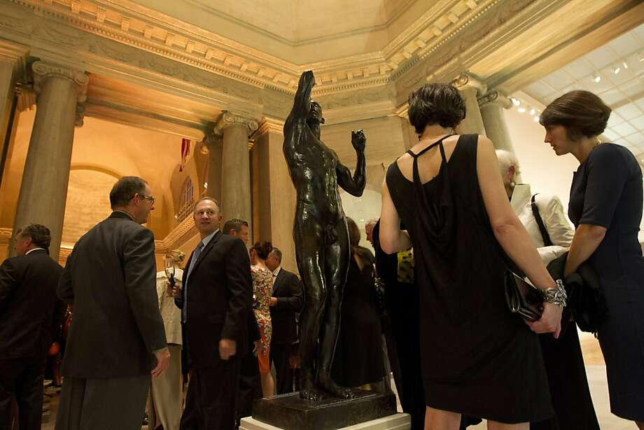 Guests mingle at the Legion of Honor in San Francisco before a screening of Citizen Hearst, a new documentary about William Randolph Hearst. Photo: Erin Lubin, Special To The Chronicle
