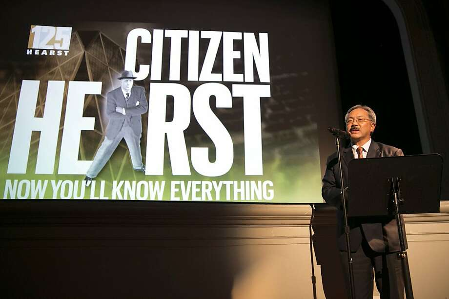 "San Francisco Mayor Ed Lee speaks before a screening of the film ""Citizen Hearst"" at the Legion of Honor in San Francisco, Calf., on Monday, October 15, 2012.  The documentary tells the story of the 125-year-old media company. Photo: Laura Morton, Special To The Chronicle"