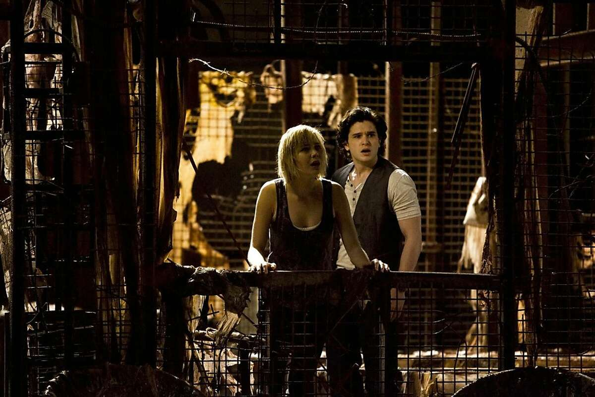Adelaide Clemens and Kit Harington in the horror film