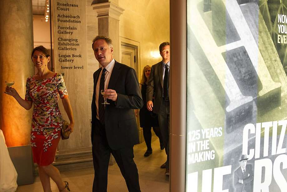 "Mary Arnold (left) and Marc Ebbin leave a screening of the film ""Citizen Hearst"" and head to the after party at the Legion of Honor in San Francisco, Calf., on Monday, October 15, 2012.  Guests of the party were treated to a performance by Tony Bennett. Photo: Laura Morton, Special To The Chronicle"
