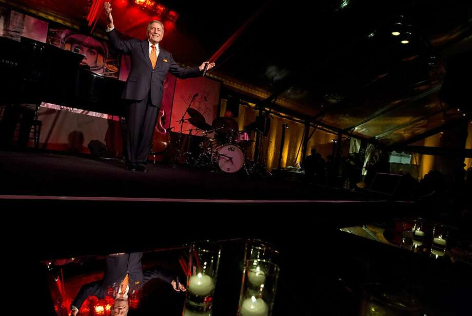 Tony Bennett performs during a reception following the screening of Citizen Hearst, a new documentary about William Randolph Hearst, directed by Leslie Iwerks, at the Legion of Honor in San Francisco on Monday, October 15, 2012. Photo: Erin Lubin, Special To The Chronicle